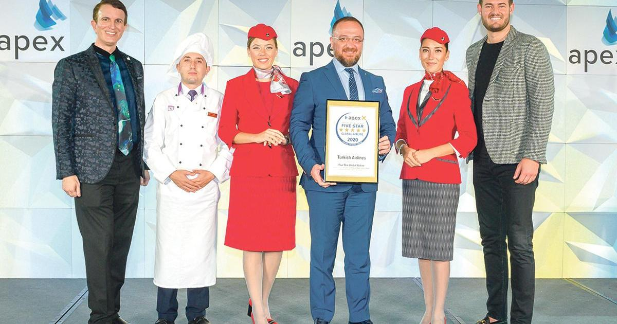 Image result for Turkish Airlines Named 2020 Five Star Global Airline At APEX Awards