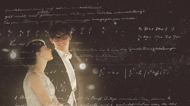 The Theory of Everything stars Eddie Redmayne and Felicity Jones as Stephen and Jane Hawking.