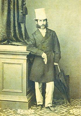 The portrait photo taken by G. Micallef when Pisani entered the University of Malta on October 1, 1844.
