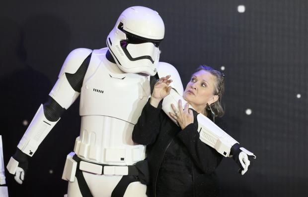 Carrie Fisher responds to body shamers: 'Blow us'