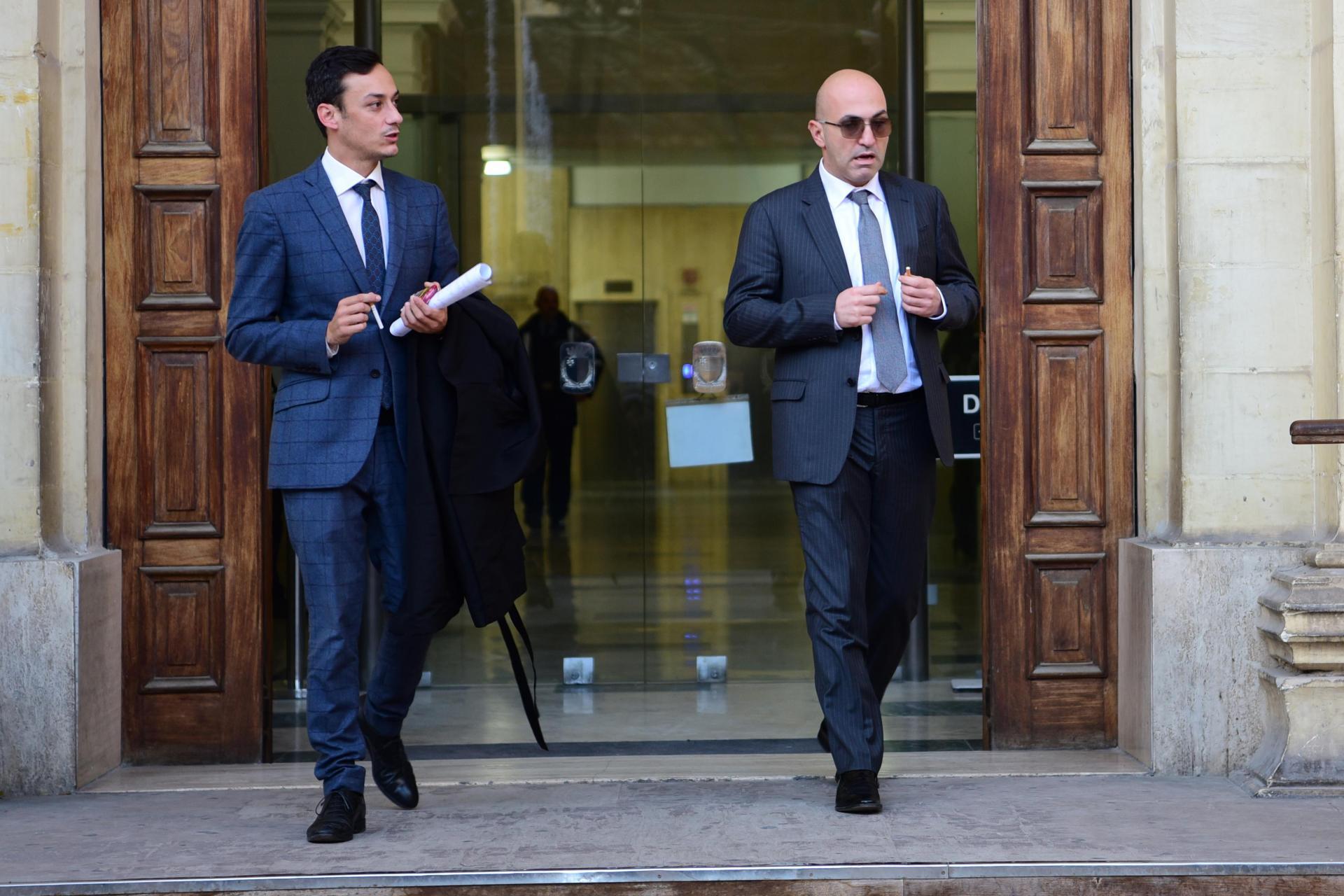 Yorgen Fenech (right) and his lawyer Gianluca Caruana Curran last November. Photo: Mark Zammit Cordina