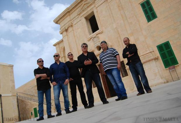 Winter Moods band members attend the press launch of their 30th anniversary concert at Fort St Elmo in Valletta on May 21. The concert will be held later on this year. Photo: Mark Zammit Cordina