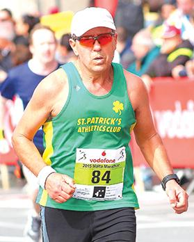 Record breaker... St Patrick's AC runner Charles Darmanin has taken part in all 31 editions of the annual Malta Marathon. Photo: Wally Galea