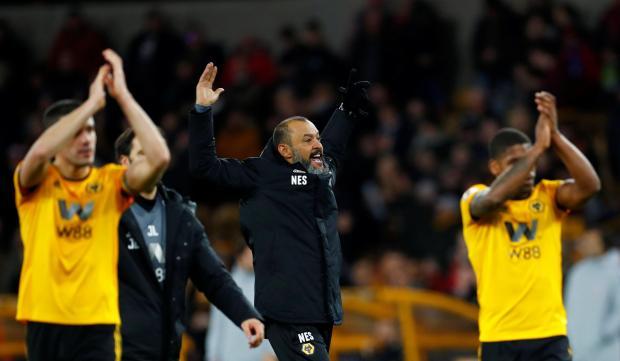 Wolverhampton Wanderers manager Nuno Espirito Santo celebrates after the match