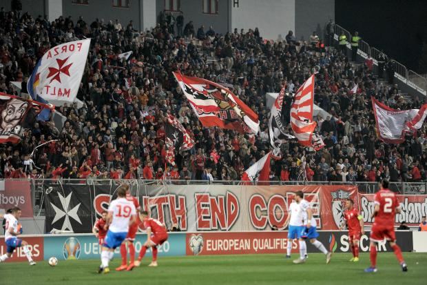 The Ta' Qali crowd backed the Reds to the end. Photo: Chris Sant Fournier