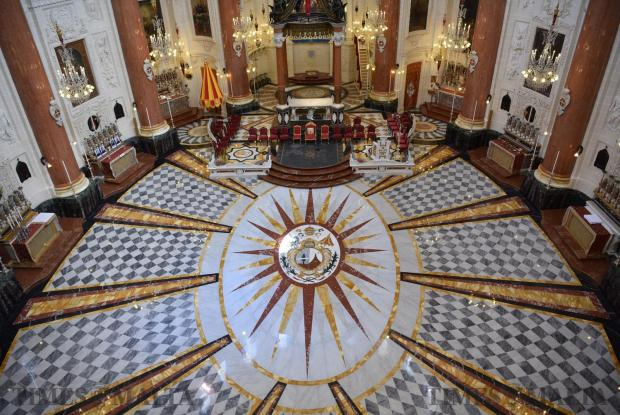 The new marble paving at the basilica of Our Lady of Mount Carmel in Valletta was inaugurated on April 2. The intricately designed paving took six months to complete. Photo: Mark Zammit Cordina