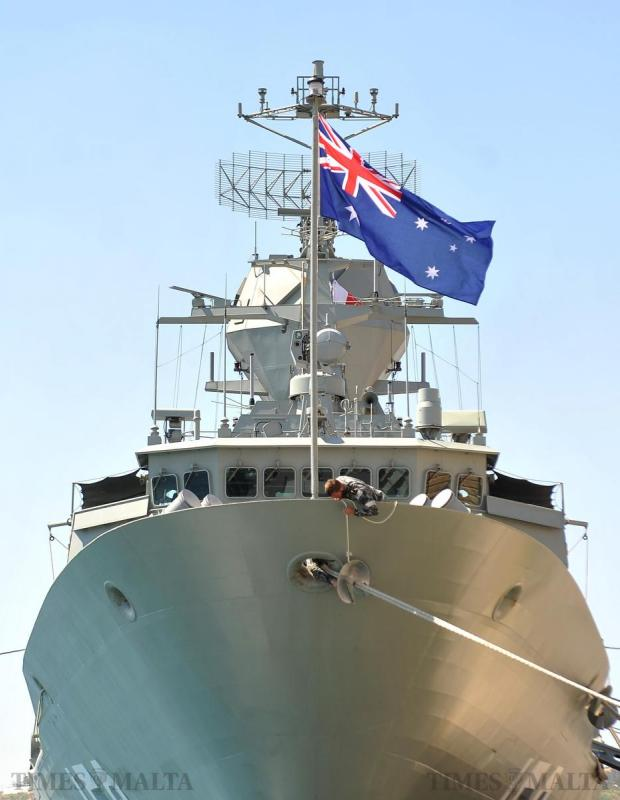 The Australian frigate HMAS Anzac berths in Grand Harbour on May 11 as part of a diplomacy tour which included a visit to Gallipoli to commemorate the 100th anniversary of the World War One campaign. Photo: Chris Sant Fournier