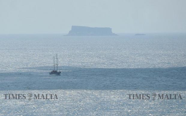 A yacht with Filfla in the background on September 4. Photo: Chris Sant Fournier