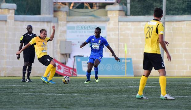 Qormi and Pietà Hotspurs shared four goals in a balanced encounter. Photo: Mark Zammit Cordina
