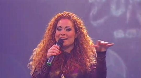 """Anna """"hair"""" Azzopardi with a song that might have been great 20 years ago."""