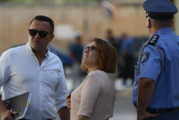 Magistrate Donatella Frendo Dimech on site. Photo: Jonathan Borg