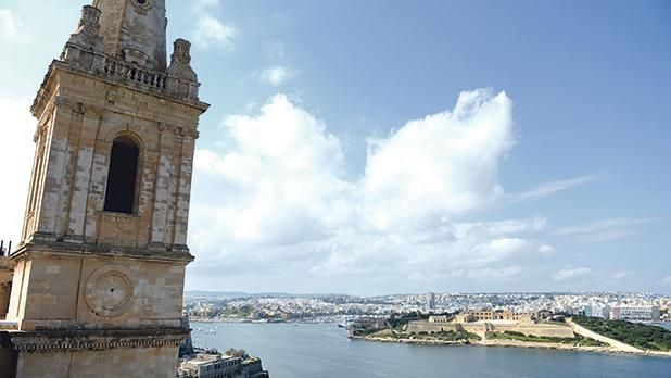 Urgent restoration work will take place at St Paul's Anglican Pro-Cathedral in Valletta, after large pieces of stones broke off the tower. Photos: Matthew Mirabelli