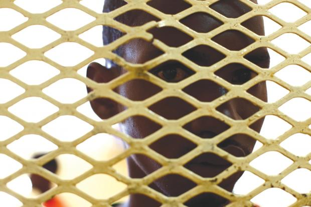 File photo of a migrant in detention. Photo: Darrin Zammit Lupi