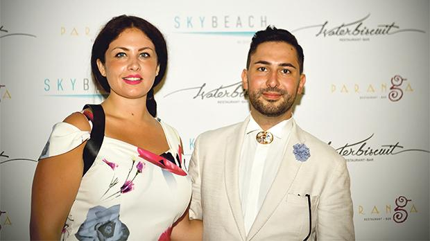 An end-of-summer party was recently held at Skybeach, on the rooftop of the Intercontinental Hotel in St Julian's. Seen here are Rebecca Micallef and Iggy Fenech.