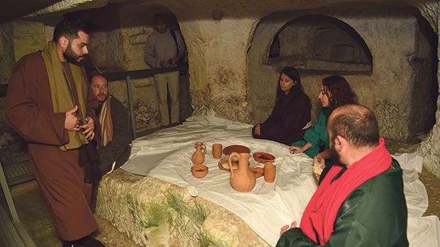 Participants took part in an ancient Roman funeral. They also participated in excavations with real archaeologists.