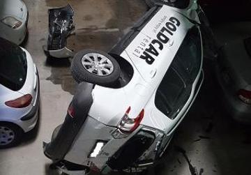 Watch: Car falls two storeys at MCP car park