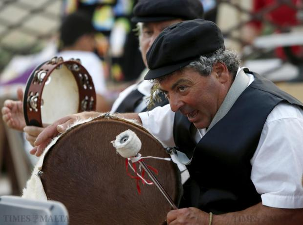 Maltese folk musicians perform at the Ghanafest folk music festival at Argotti Gardens in Floriana on June 13. The three-day festival is a showcase of Maltese folksong as well as international music folk fusion music. Photo: Darrin Zammit Lupi