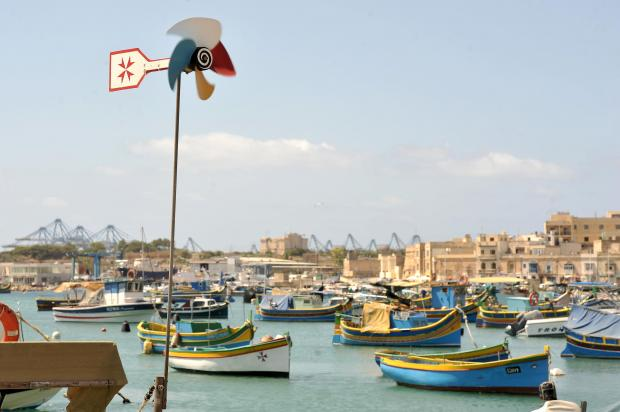 A weather vane points North Westerly in Marsaxlokk on July 26. Photo: Chris Sant Fournier