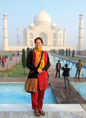 The author alone at the Taj Mahal.