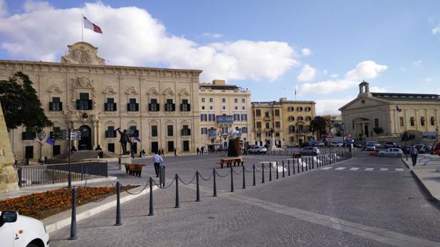 Castille Place, Valletta. Photo: Anton Zarb