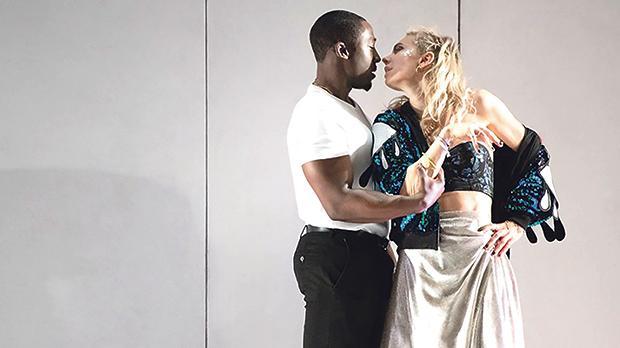 Vanessa Kirby and Eric Kofi Abrefa in Julie