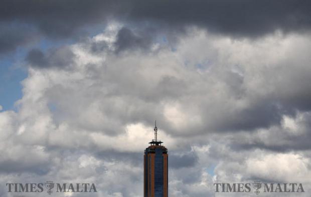 The Portomaso tower on January 6. Photo: Chris Sant Fournier