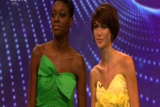 Tiffany and Alisha White await the final result, as seen by millions of televiewers on Living.