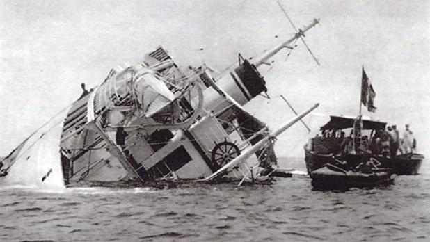 Heel over:Two people perished when the Star of Malta ran aground.