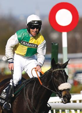 Leighton Aspell on winner Many Clouds.