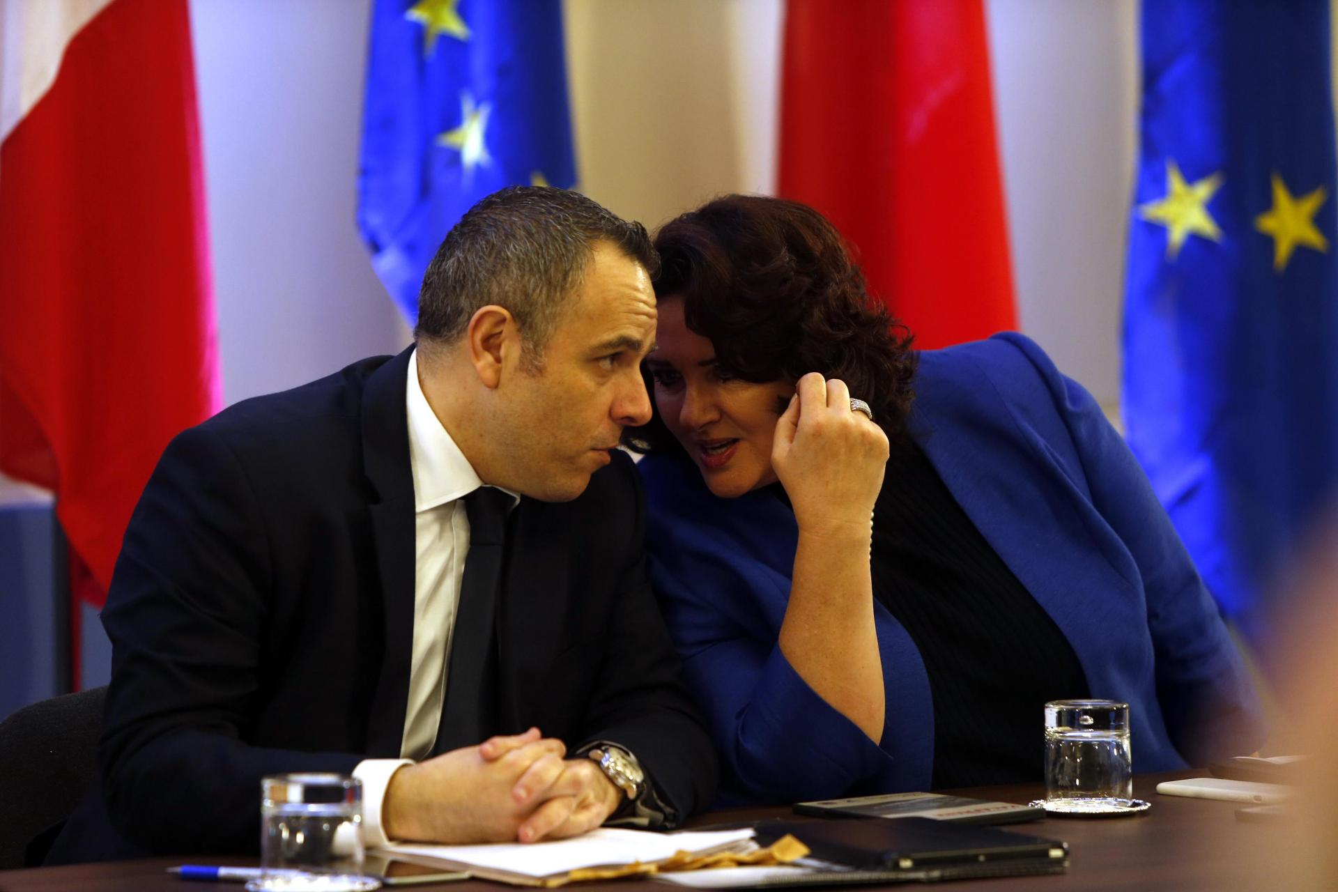 Keith Schembri pictured in 2016 with Helena Dalli, now Malta's European Commissioner-designate. Photo: Darren Zammit Lupi