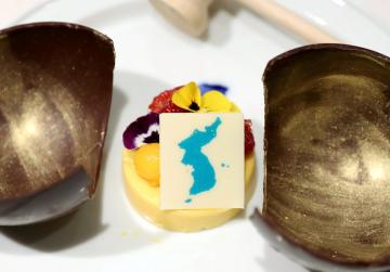Unjust dessert? Japan demands Koreans wipe map off summit dinner mousse