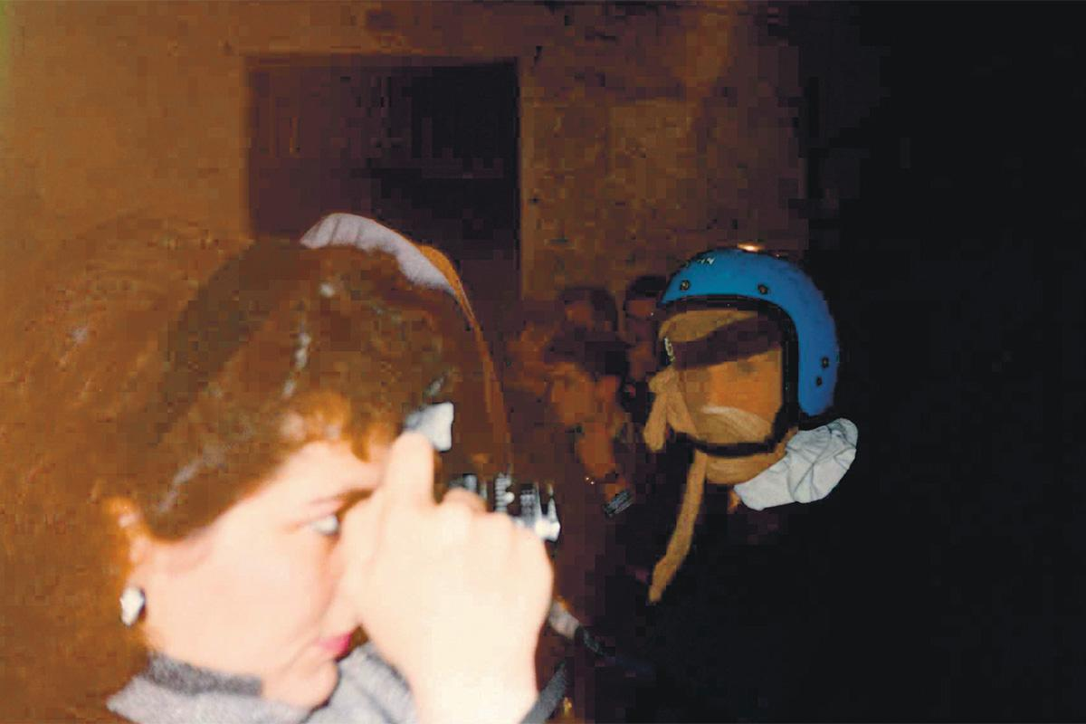 Beatrice Gatt photographing the Nadur carnival.