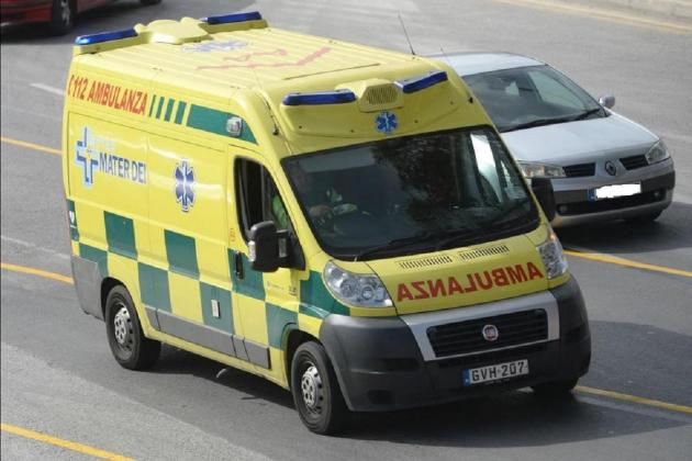 Woman injured in double collision