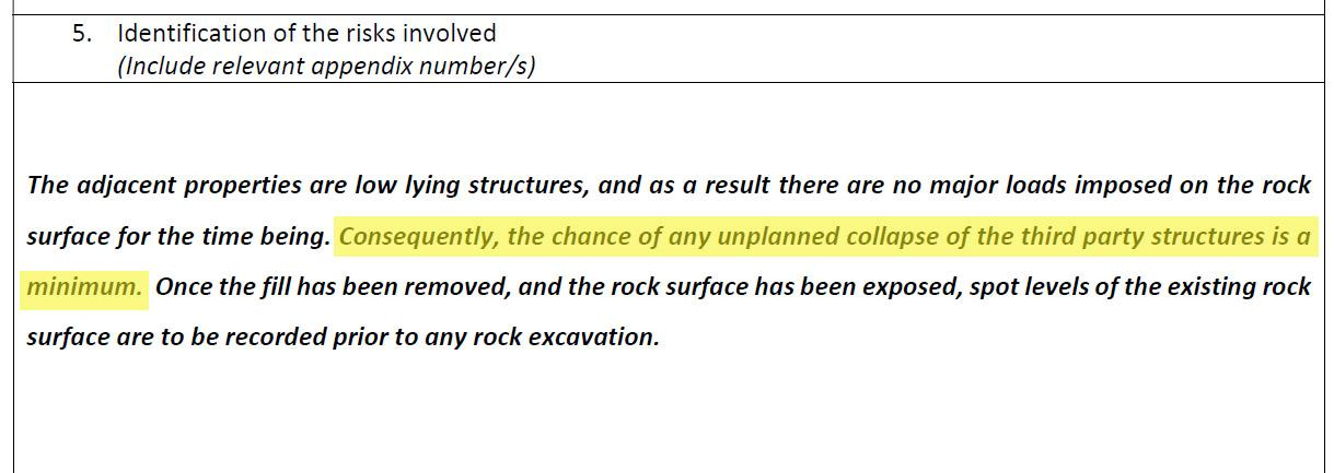 An extract from the method statement filed by the project's architect.