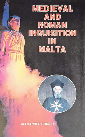 Cover of a book by Alexander Bonnici on the Inquisition showing the alleged burning of Gesualdo.