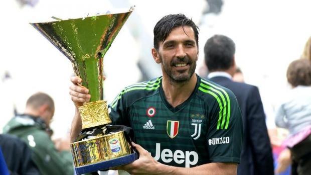 Gianluigi Buffon won the Serie A championship with Juventus, last season.
