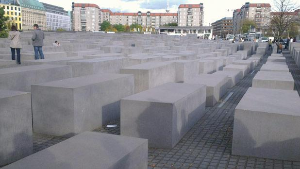 The Jewish memorial is perfect for hide and seek.