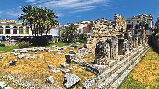 The Temple of Apollo, on Ortygia