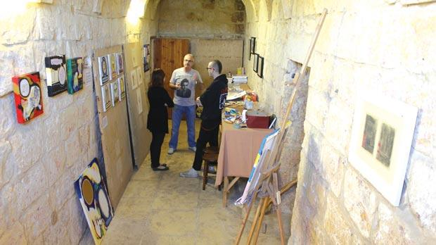 The exhibition space at the Xarolla Windmill.
