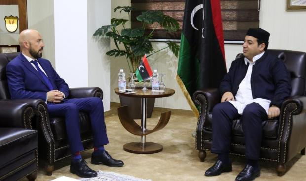 Mr Gafà with the vice-president of the Presidential Council Ahmed Omar Mʿytyq.