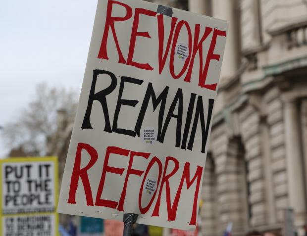 Those marching demanded a second Brexit referendum. Photo: AFP
