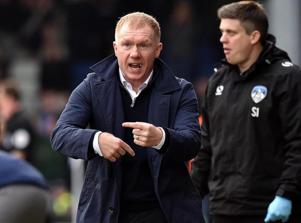 Paul Scholes has stepped down from his role as Oldham manager.