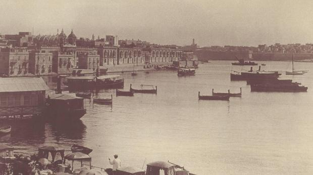 The Sliema ferries at the turn of the century.