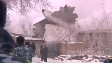 Video: Turkish cargo jet crash kills at least 30 in Kyrgyzstan