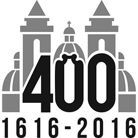 Logo marking the 400th anniversary of the parish.