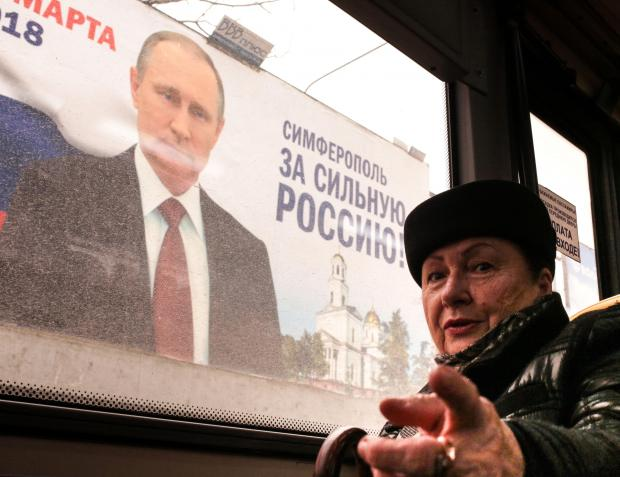 Putin is expected to get 70 per cent of the vote in the upcoming election. Photo: AFP