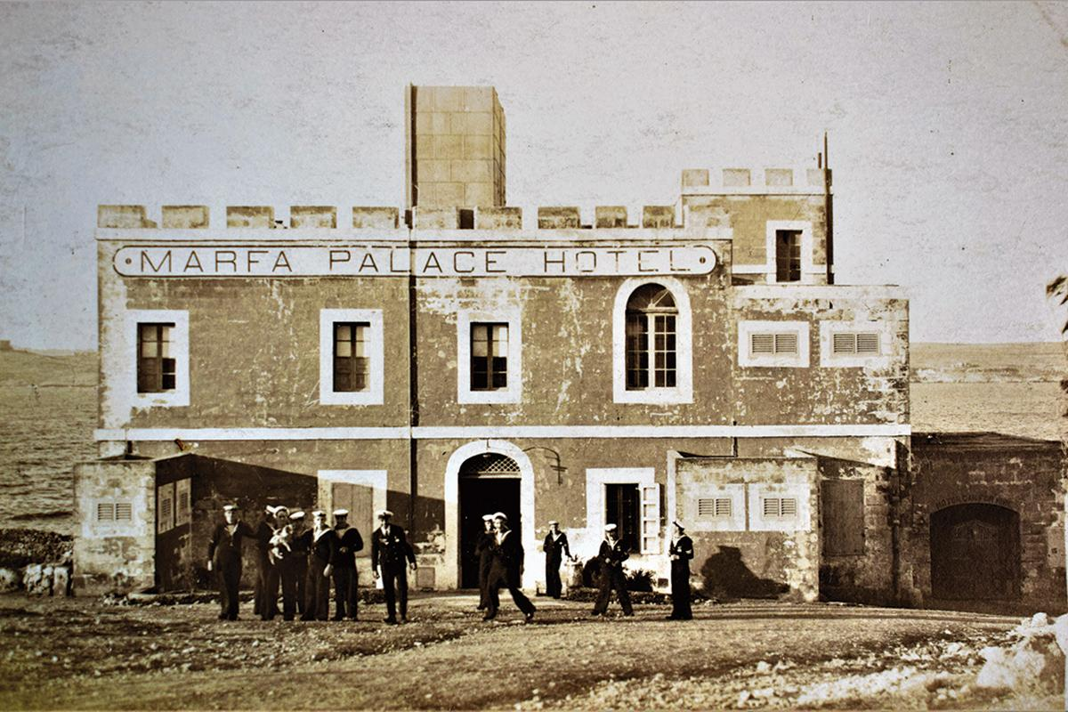 The Marfa Palace Hotel in the 1930s.