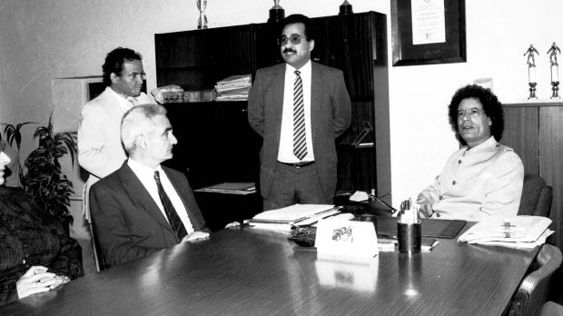 At a meeting with Prime Minister Karmenu Mifsud Bonnici in May 1984. Photo: DOI