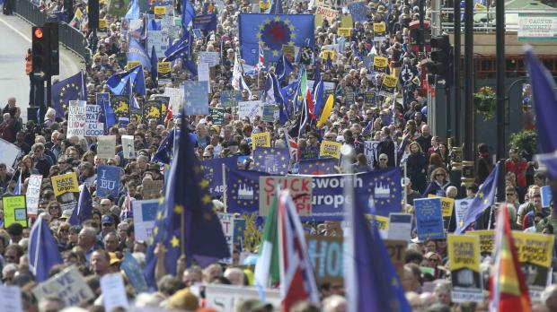 The rally was due to end in London's Parliament Square. Photo: Reuters