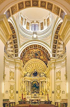 Interior of Tal-Pilar church.